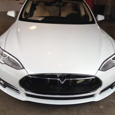 Samir claims that white Tesla's look like Toyota Camry's...