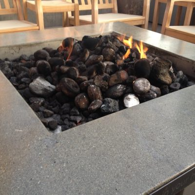 Awesome roof top fire pit.