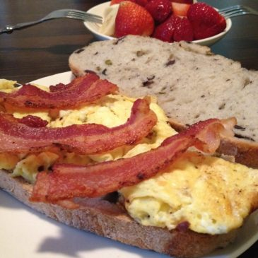 Olive Loaf Breakfast Sandwich