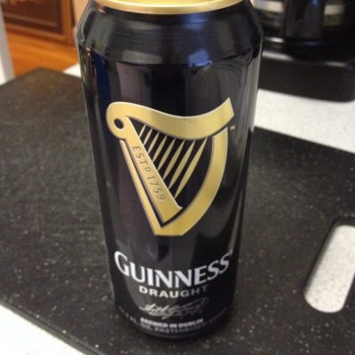 Add 2 cans of Guinness