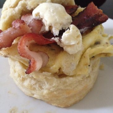 Bacon & Egg Breakfast Biscuits