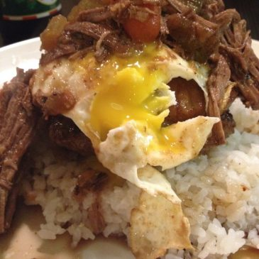 Loco Moco w/ Guinness Braised Leftovers