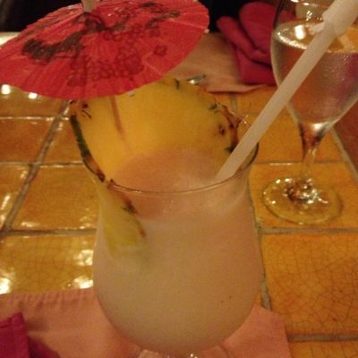 Pina Colada! I probably had a thousand of these over the course of the week. They were so good!