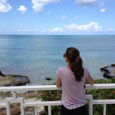 Gazebo overlooking the water.