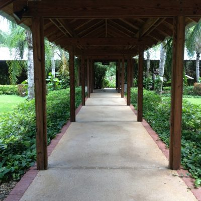 The very beautiful walkways that connected the entire resort.