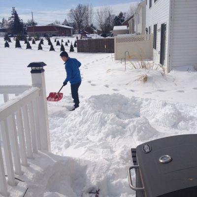 I love shoveling snow.