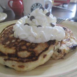 Blueberry Chocolate Chip Buttermilk Pancakes