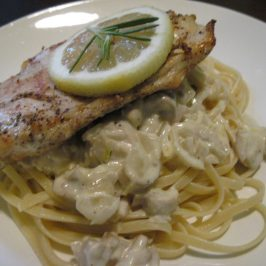Chicken Linguine with Lemon Butter Cream Sauce
