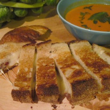 Grilled Cheese Sticks with Creamy Tomato Soup
