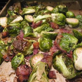 Honey Roasted Bacon Brussels Sprouts