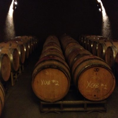 So many barrels of delicious wine.