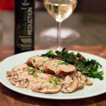 Reduction Ready Review: Mushroom Risotto with White Wine Reduction