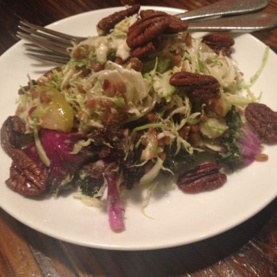 Some salad with rye berries.  No one had any idea what a rye berry was.