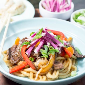 Beef and Vegetable Udon Stir-Fry