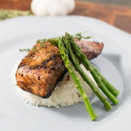 Balsamic Reduction Glazed Salmon
