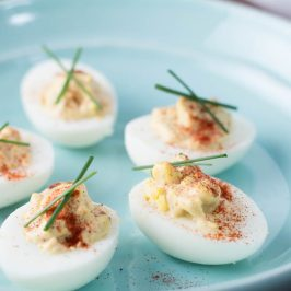 Smokey Chipotle Bacon Deviled Eggs