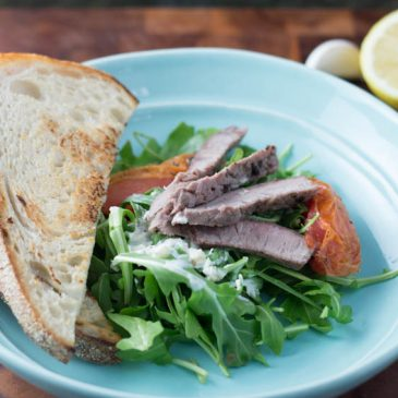 Plated Subscription Box Review: Roast Beef-Spiced Steak Salad with Horseradish Dressing