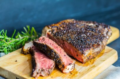Coffee Crusted New York Strip Steak