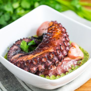 Sous Vide Octopus with Cilantro Lime Chimichurri